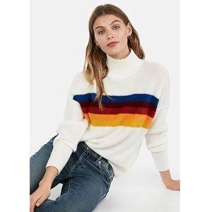 Express Vintage-Inspired Turtleneck Sweater